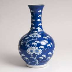 Porcelain baluster vase with plum blossoms