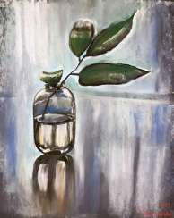 Branch in glass jar