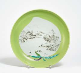 Large plate with landscape
