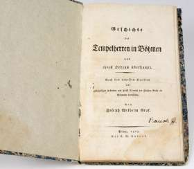 History of the Templars in Bohemia v. 1825