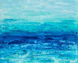 OCEAN BREEZE textural acrylic abstraction