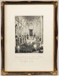 Etching by Walter Zeising with a dedication by
