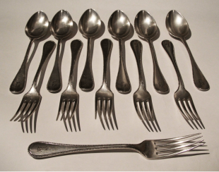 silver / Set of devices Germany 19 century