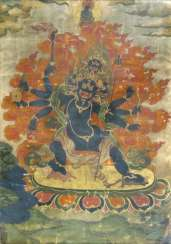 Thangka with the depiction of a patron deity