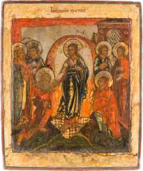 ICON WITH THE HADES JOURNEY OF CHRIST AND THE DELIVERANCE OF THE FOREFATHERS FROM HADES