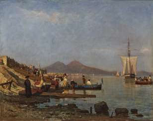 Scene on the shore of the Gulf of Naples