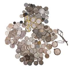 Silver solder with all sorts of FRG commemorative coins,
