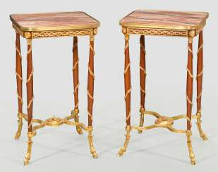 Pair of Gueridon tables in the Directoire style