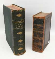 BIBLE AND BIBLE-ILLUSTRATIONS, hardcover editions, British Kingdom in 1840/ German Empire 1877