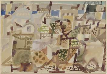Eduard Bargheer, City in Autumn N1. 1956
