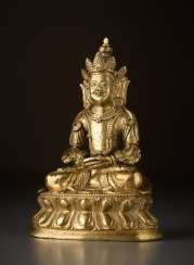 FIRE-GILT BRONZE OF BUDDHA AMITAYUS - INFINITE LIFE