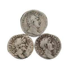 3 coins of the Roman Empire -