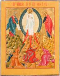 FINE ICON WITH THE TRANSFIGURATION OF CHRIST