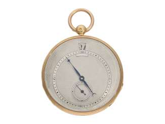 Pocket watch: fine red-gold Lepine with jumping hour and local time display, Breguet students, Giteau Eleve de Breguet, No. 1465, CA. 1830