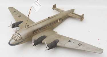 Model AIRPLANE, Swabia - D-AGJA, wood, Germany, 20. Century