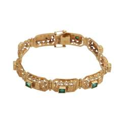 Bracelet with 10 emeralds