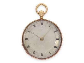 Pocket watch: red-gold Lepine of very fine quality, Repetition, master watchmaker, Köppen Paris, watchmaker to the court of the king, No. 5738, CA. 1820