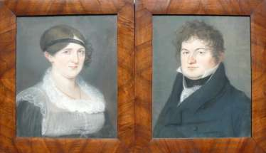 Pair Of Biedermeier Portraits