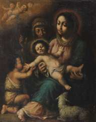 Mary with the child, the Johannesknaben and St. Elisabeth