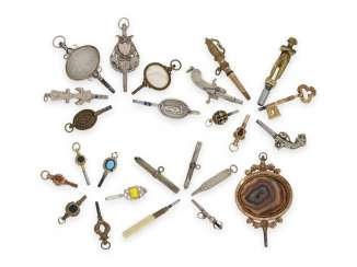 Watch the key: a collection of very rare spindle watch keys, CA. 1780-1850, many rarities