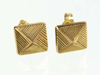 Ear Studs Yellow Gold 333