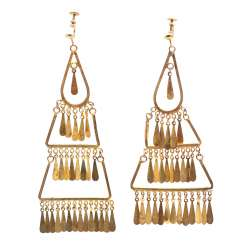 MOROCCO/LEBANON REVUE Pair of fashion jewelry earrings, 1960s