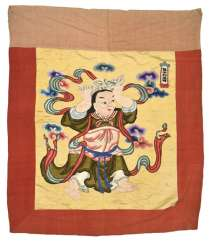 Silk embroidery with an Immortal