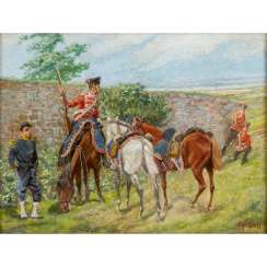 "SELL, CHRISTIAN, probably the Elder (1831-1883), ""Scouting Hussars"","