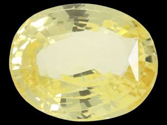Sapphire: natural yellow sapphire, approx. to 5.76 ct