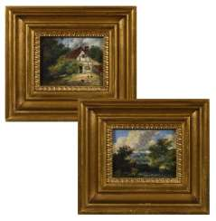 Landscape painter 19th century: Two small landscapes