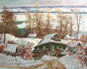 Winter on the banks of the Volga