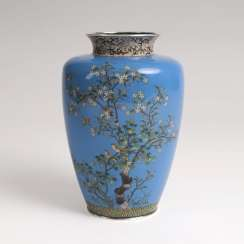 Cloisonne Vase with flowers and birds