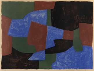 Composition in Blue, Green and Red, 1961