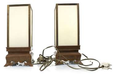 Pair Of Lamps Stands Bronze