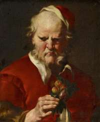 Portrait of a gentleman with apricot and a Fig branch