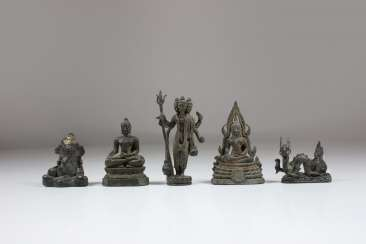 Mixed lot of 5 pieces, Asia 19. Century