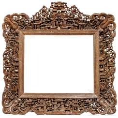 Carved picture frame, China, 19th century