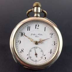 Mr. Pocket Watch: Silver 800. Master Watchmaker: *Gottfried Müller, Empty*. Work: *DAD* for D. A. Danckwerth, Hanover, 1900