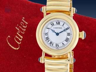 Watch: extremely luxurious Cartier women's watch with Original Service case and original papers from 2001, model