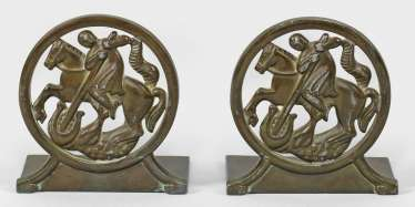 Pair of small Art Deco bookends by Just Andersen