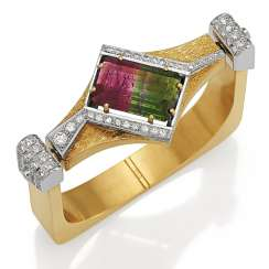 Tourmaline-Diamond-Bangle