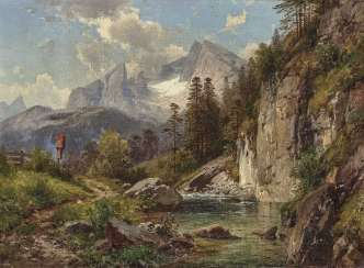 Mountain landscapes with views of the Watzmann
