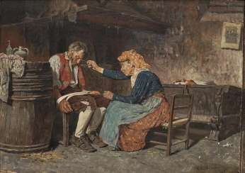 Italy, 2. Half of the 19th century. Century. The old Couple in the parlour