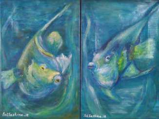 Diptych oil
