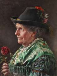 Ernst Schmitz, a woman in traditional costume