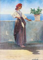 Young woman on Capri
