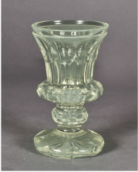 Glass uranium glass France, mid-nineteenth century