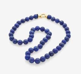 Lapis Lazuli necklace with gold clasp