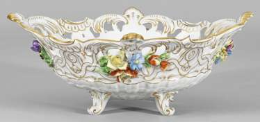 Large ceremonial bowl with flowers decor