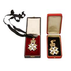 Knights of the order of the hospital of St. John of Jerusalem, cross of the legal knights (the Hospitallers),